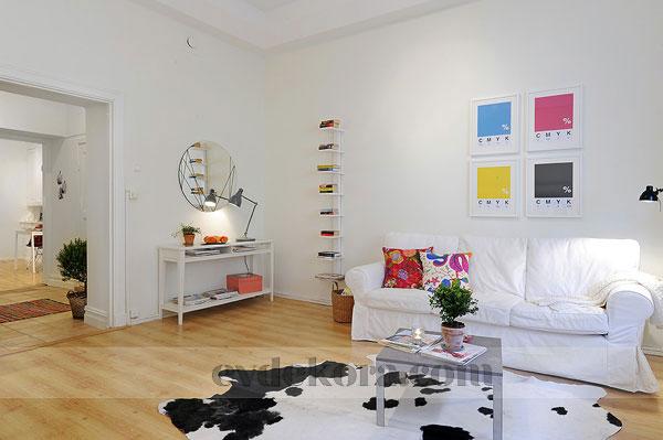 Az mobilyal bol e yal mimari mobilya ya am odas for Departamentos pintados modernos