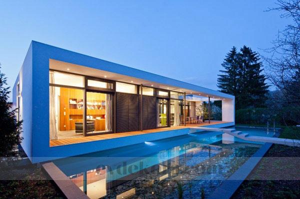 Ilham verici modern müstakil ev dış mimari
