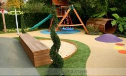 Rahat ve şık bahçe dekorasyonları